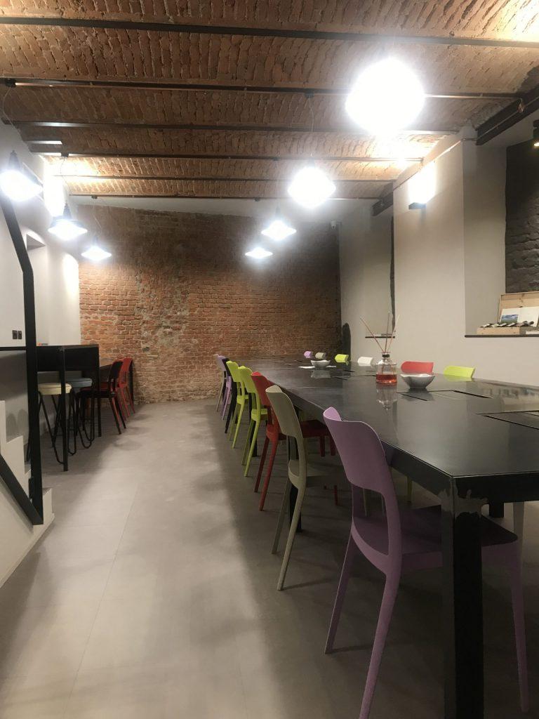 Coworking Corso Magenta Milano - pavimento pvc Allura di Forbo