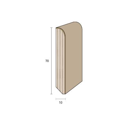 battiscopa in legno verniciato bianco 70x10
