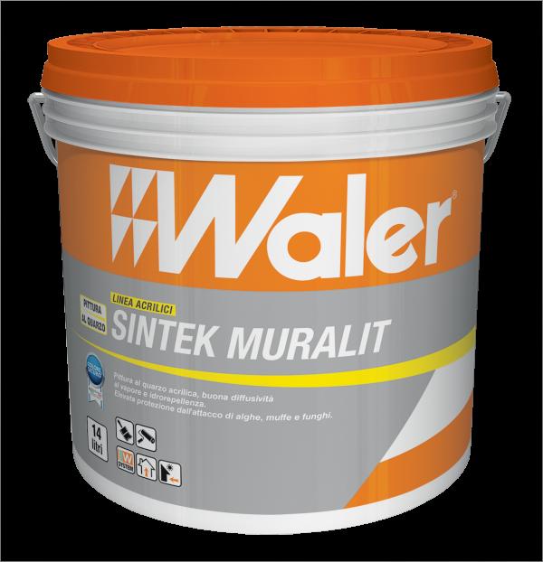 Sintek Muralit Waler Pittura di quarzo acrilica contro alghe e muffe
