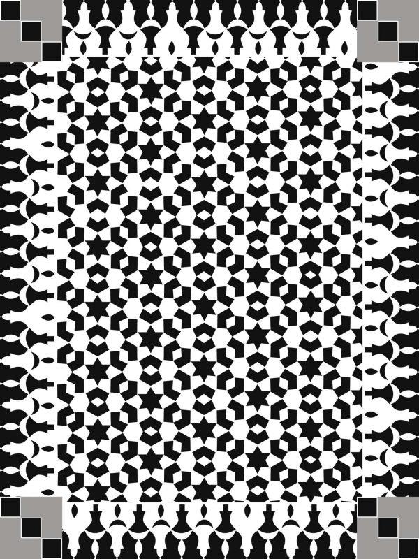 Tappeto pvc stampa digitale bianco e nero