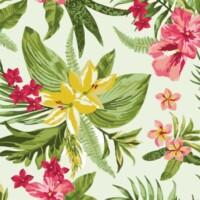 tappeto in pvc stampa digitale tropical verde