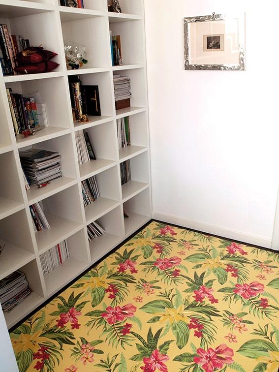 tappeto in pvc stampa digitale tropical verde - ambientata
