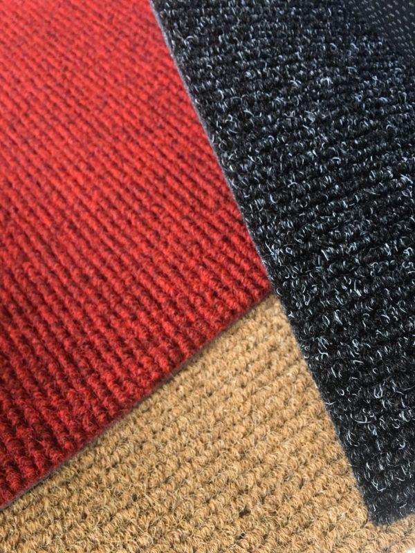 Zerbini sintetici per interno es esterno in sp. 13,5 mm colore grigio, rosso, naturale